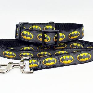 batman collar and lead set
