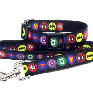 superhero collar and lead