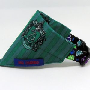 slytherin dog collar bandana