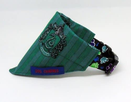 slytherin dog collar bandana