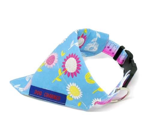 blue floral bandana