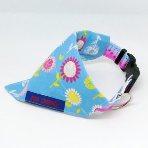 blue floral dog bandana