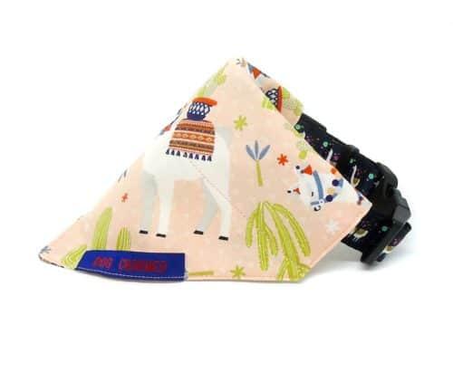 llama dog bandana