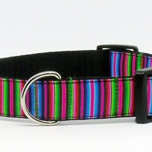 pink striped collar