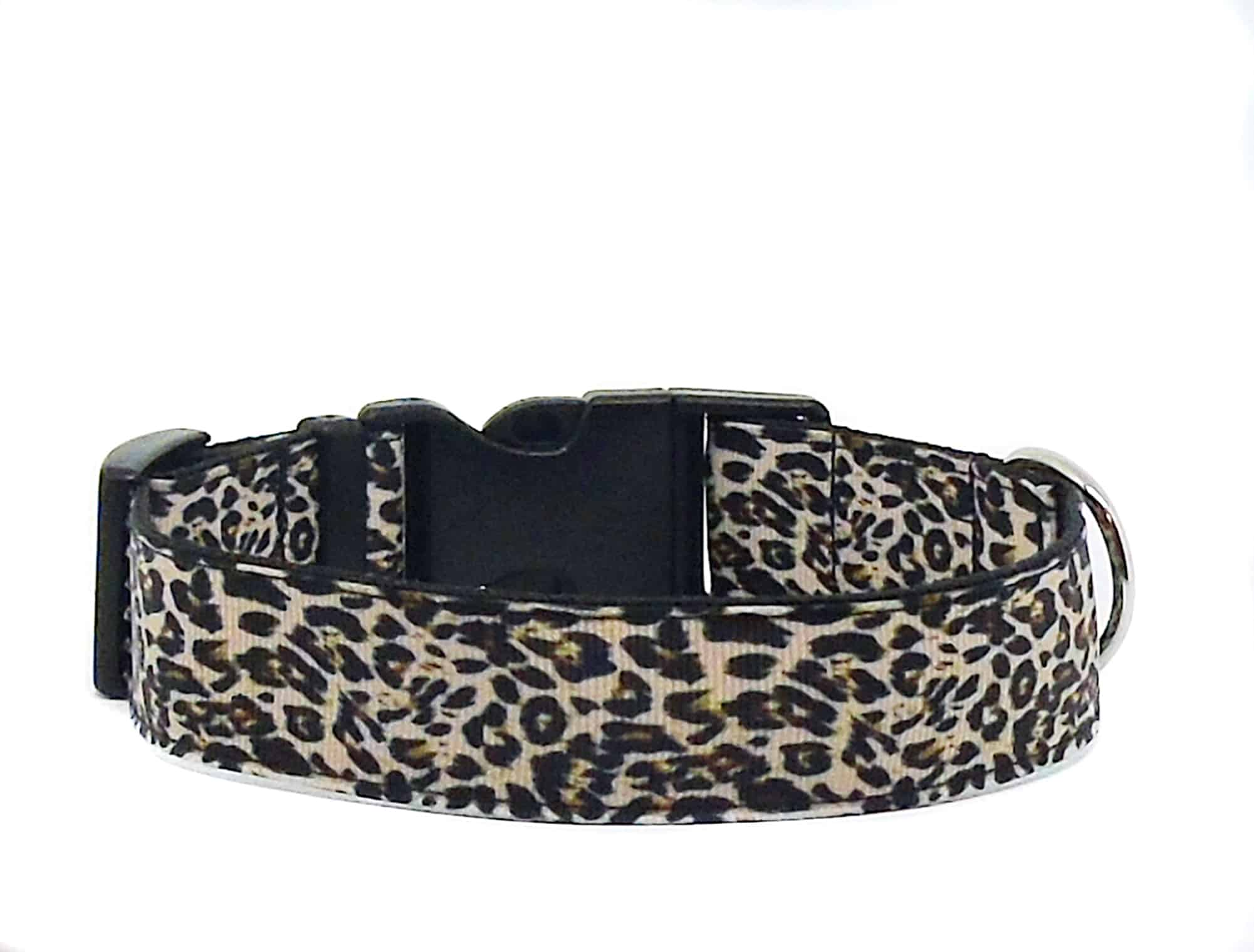 animal print dog collar