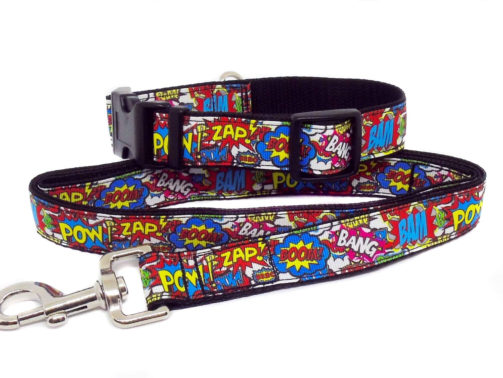 bam pow collar and lead