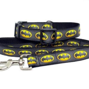 batman collar and lead
