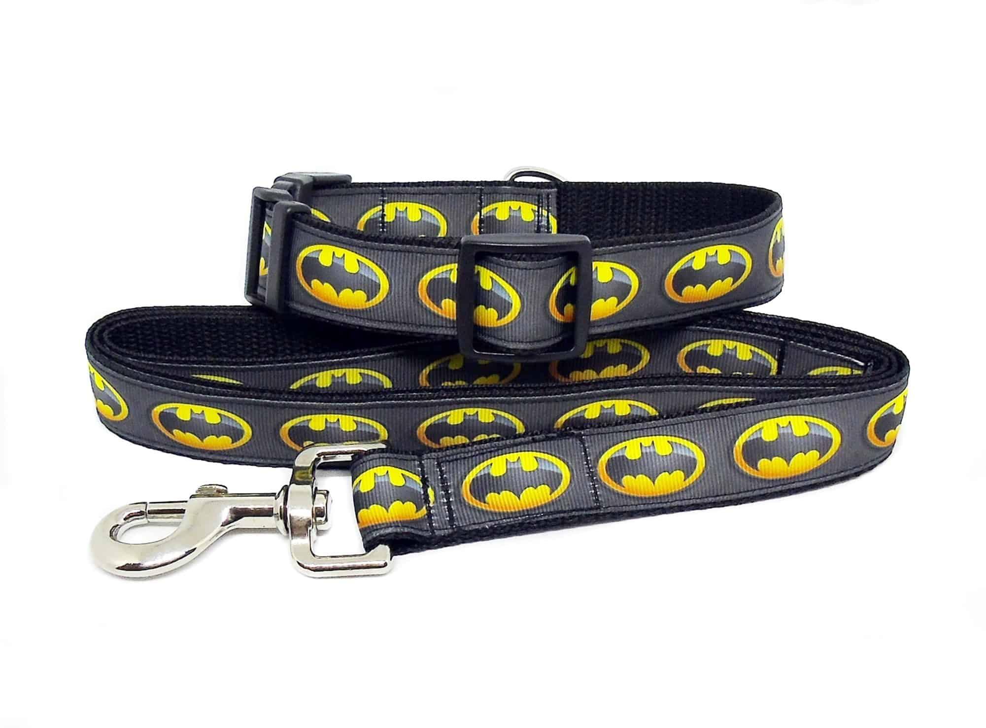 batman collar and lead
