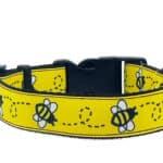 bee print dog collar