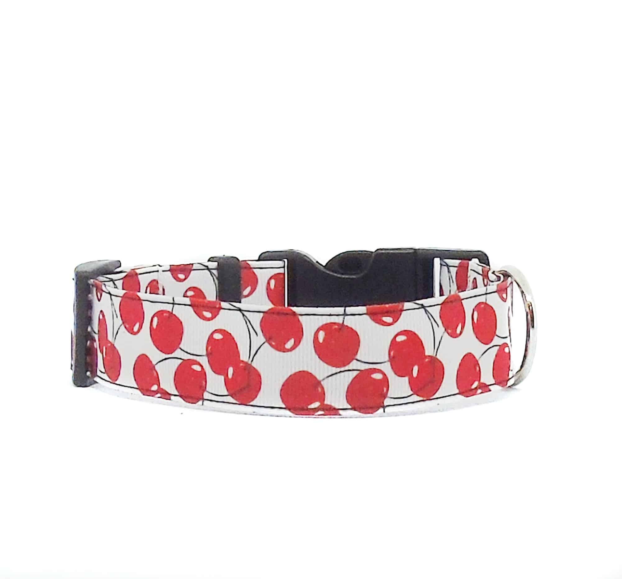 cherry dog collar