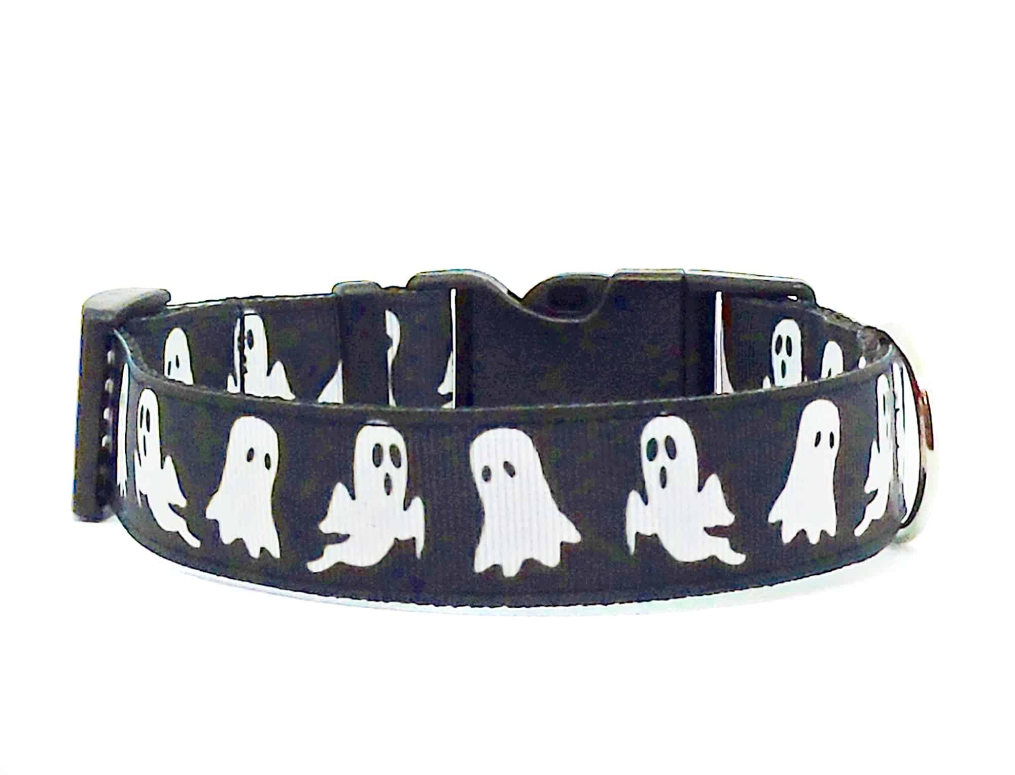 halloween ghosts dog collar