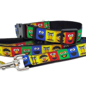 sesame street collar and lead
