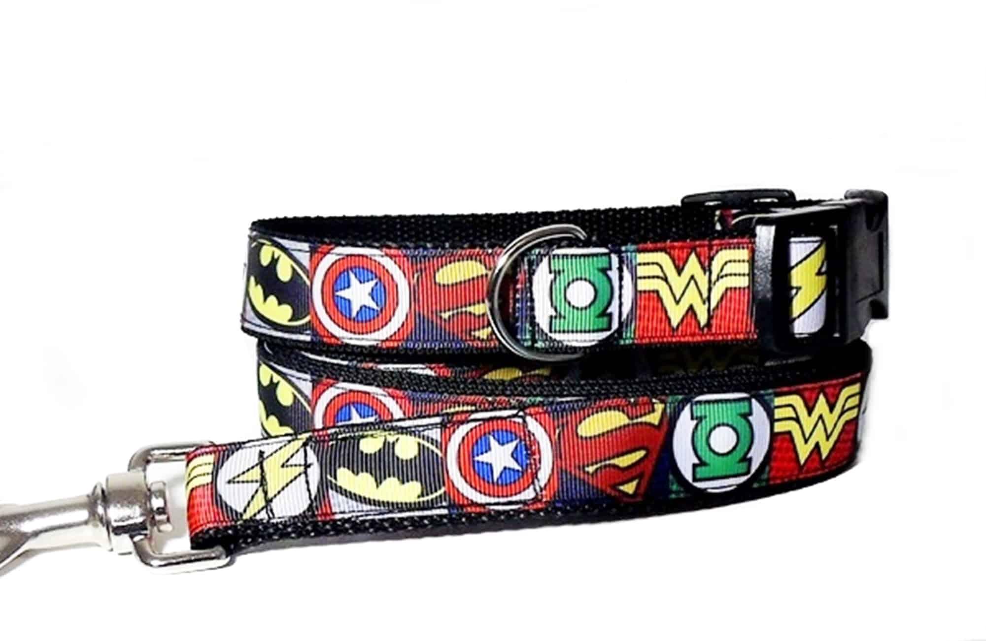 superhero collar and lead