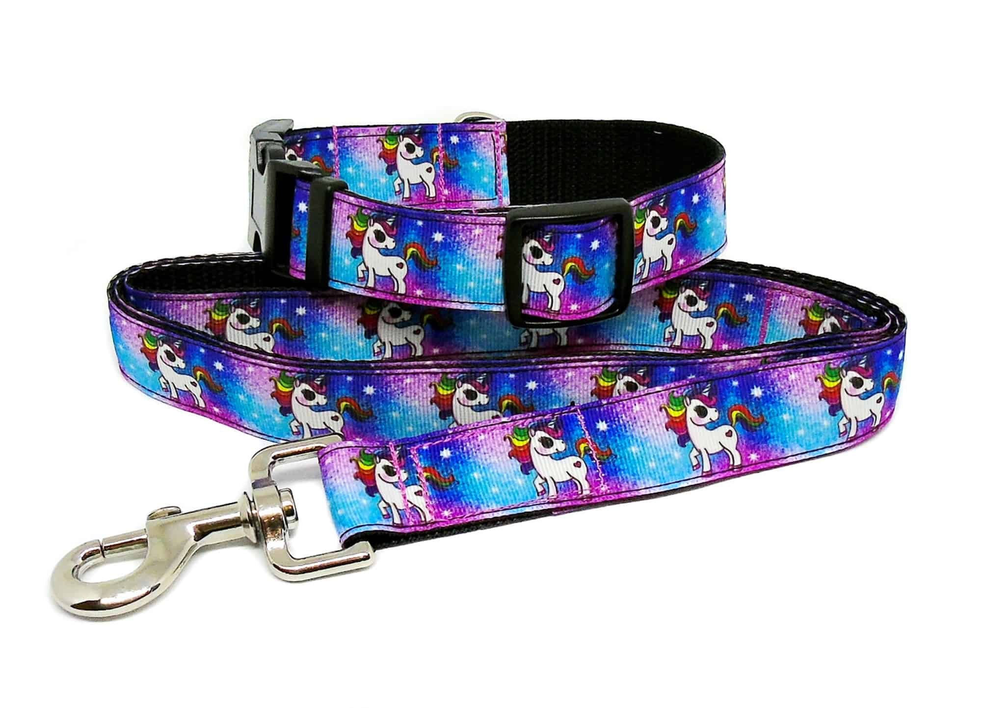 unicorn collar and lead set