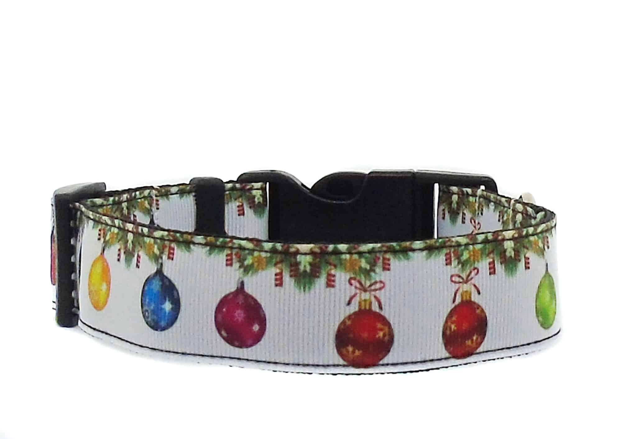 christmas baubles dog collar