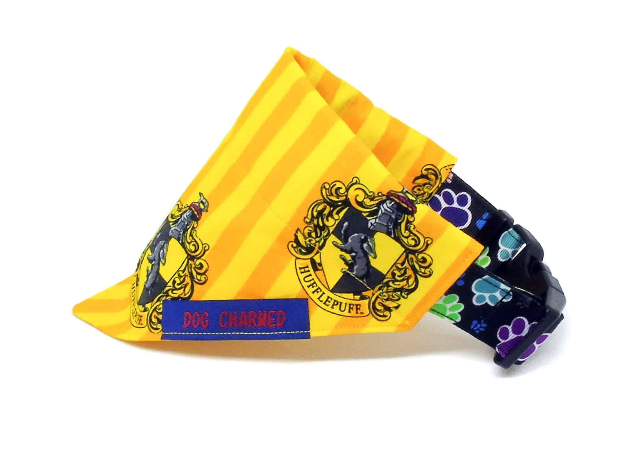 hufflepuff dog bandana