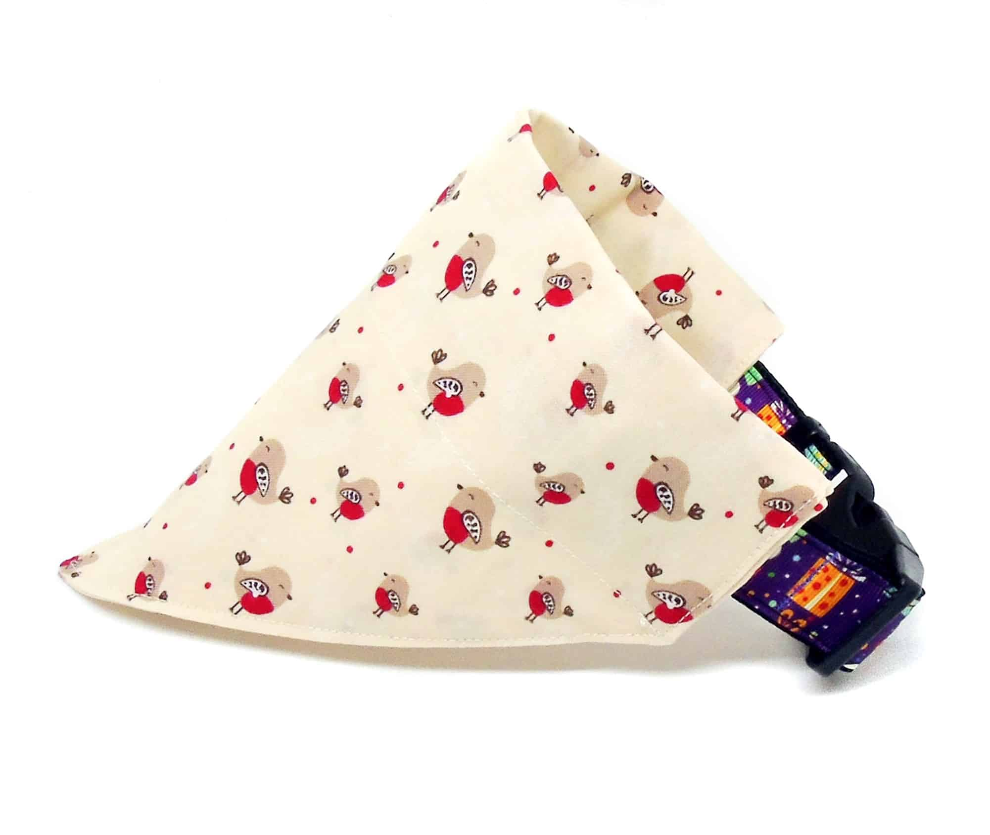 christmas robin dog bandana