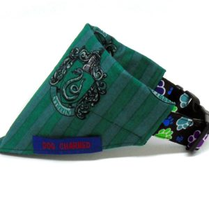 slytherin dog bandana