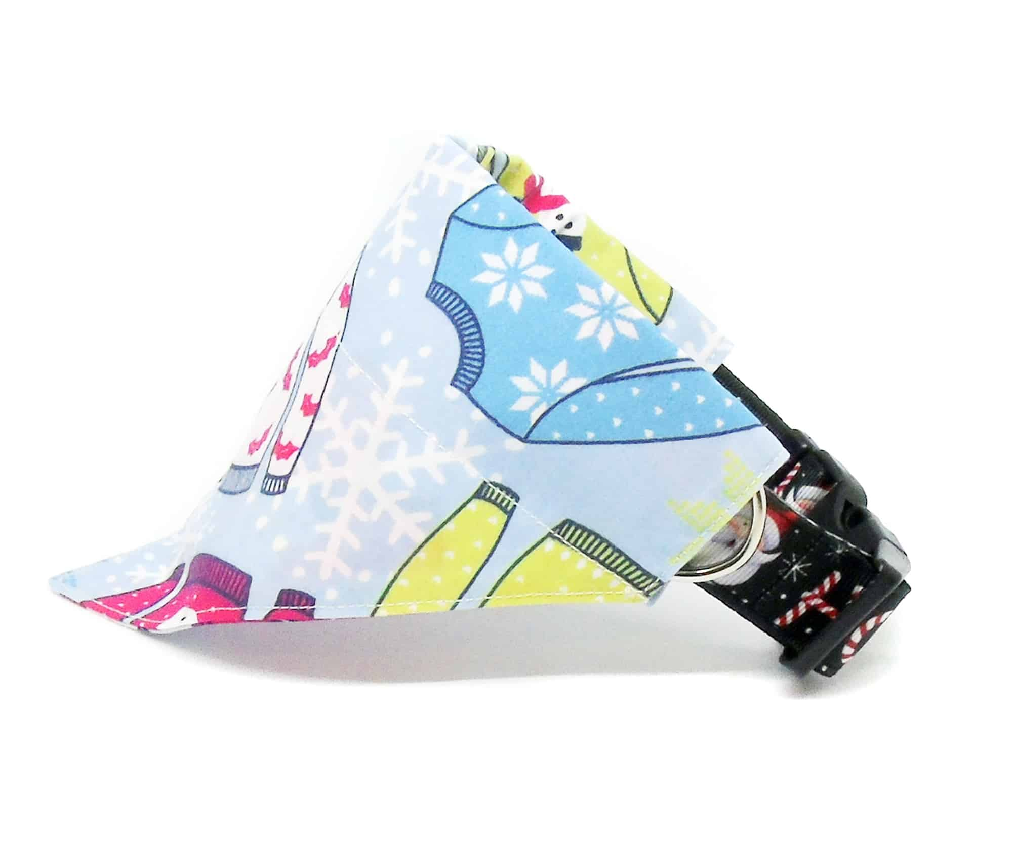christmas jumper dog bandana
