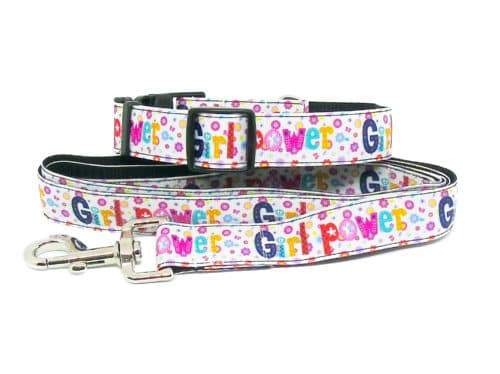 girl power collar and lead