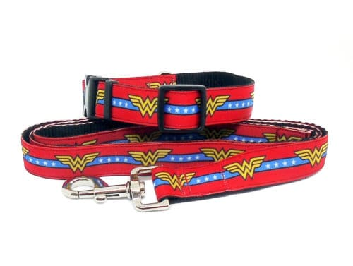 wonder woman collar and lead