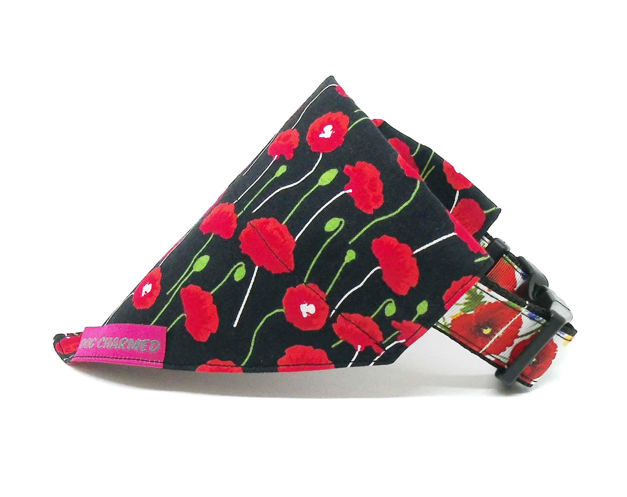 poppies dog bandana