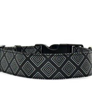 black geo print dog collar