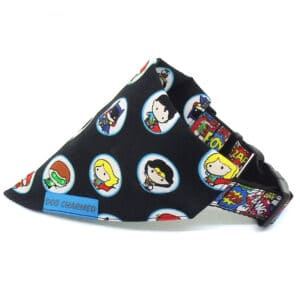 kawaii superheroes bandana fabric