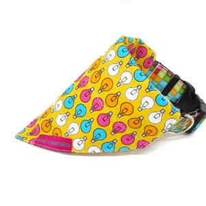 lightbulbs dog bandana