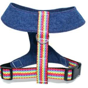 multi coloured dog harness
