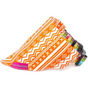 orange aztec dog bandana