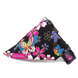 oriental floral dog bandana
