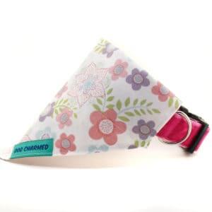 pastel floral dog bandana