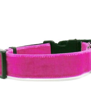 pink velvet dog collar