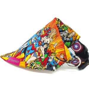 red superheroes bandana fabric