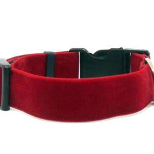 red velvet dog collar