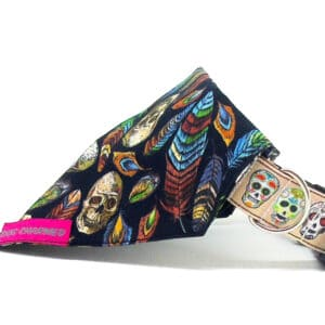 skulls and feathers bandana