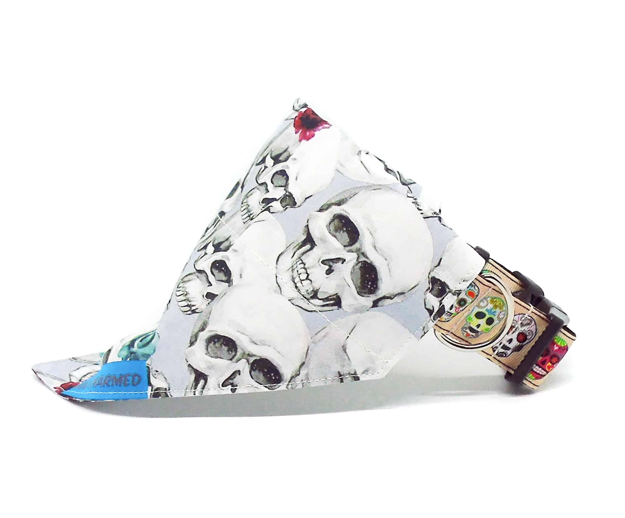 skull dog bandana