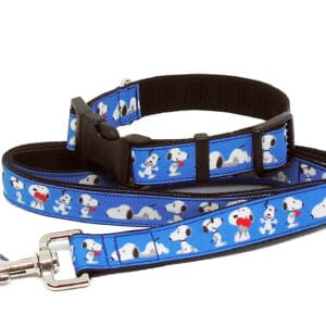 snoopy collar and lead set