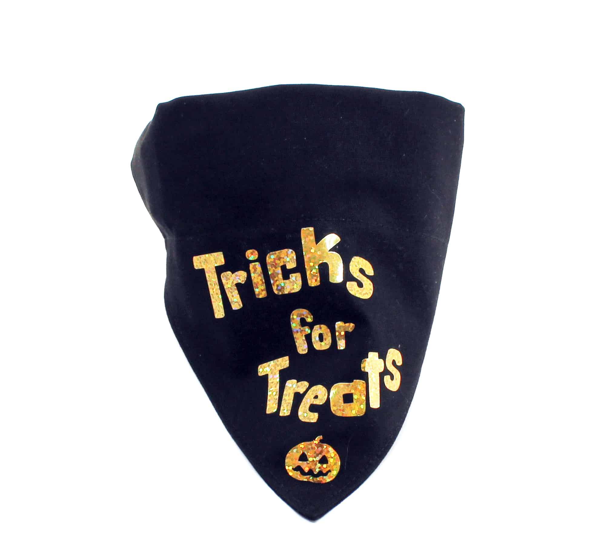 gold halloween dog bandana