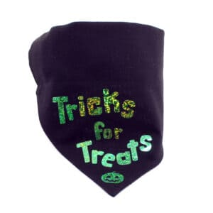 green tricks for treats bandana