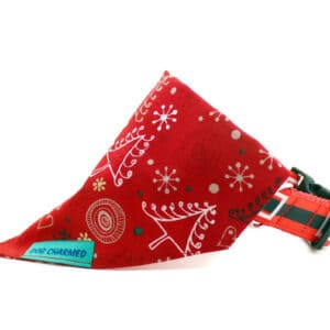 xmas trees dog bandana