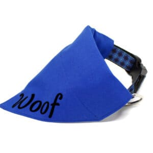 blue personalised bandana