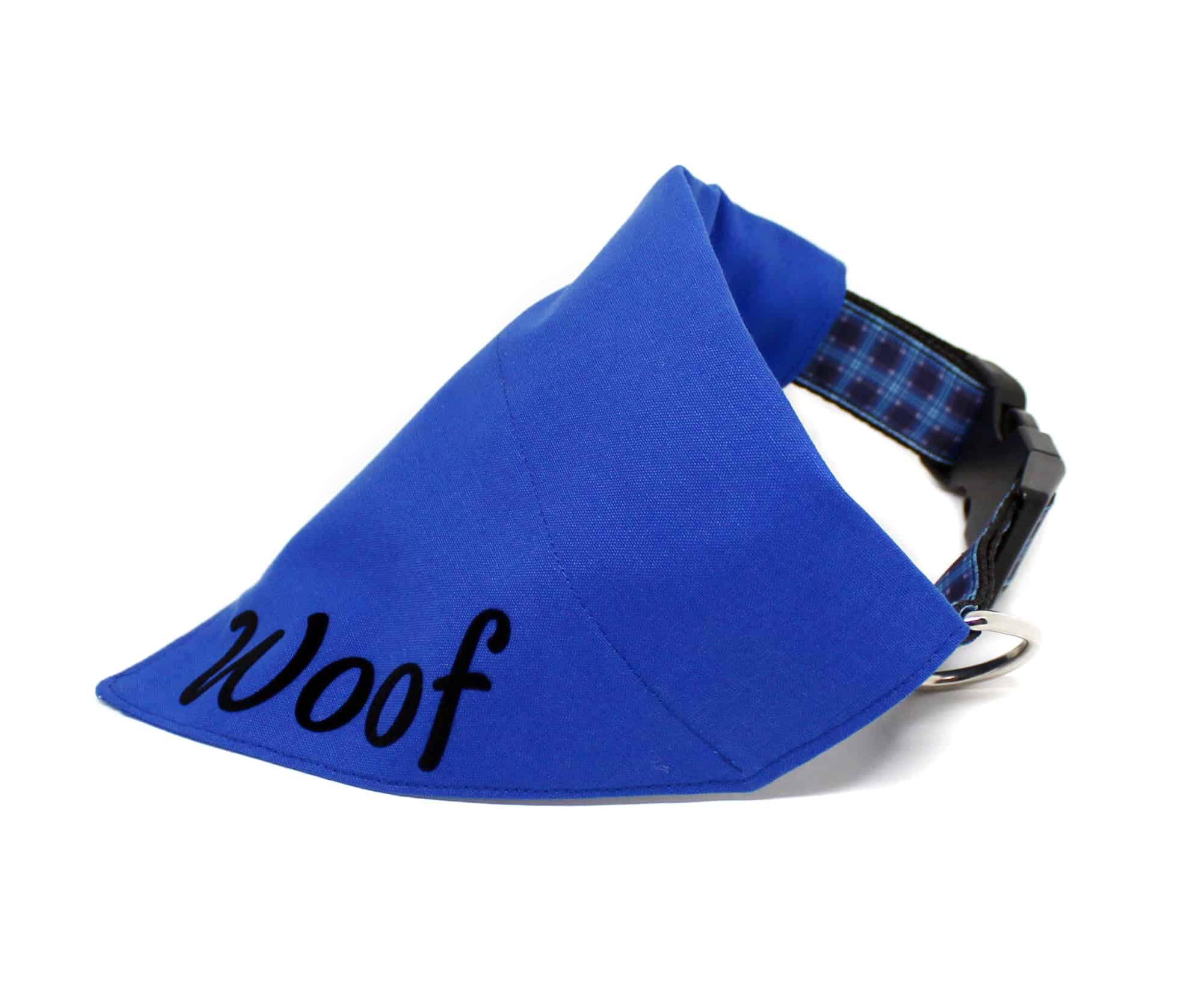 blue personalised bandana