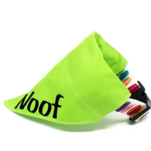 green personalised dog bandana