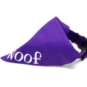 purple personalised bandana