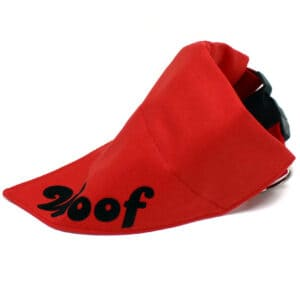 red personalised dog bandana