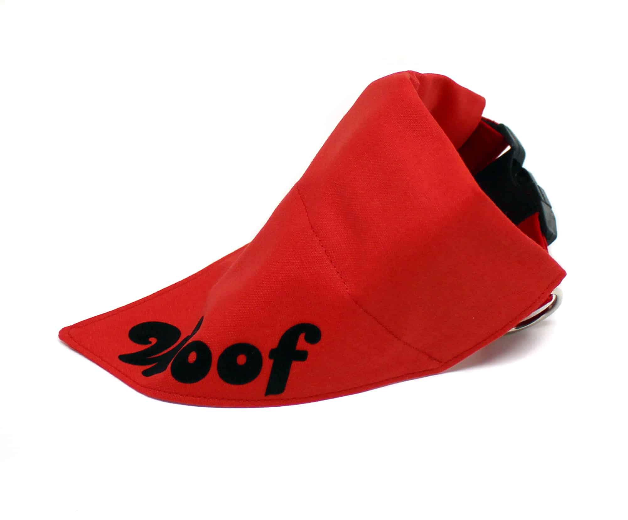 red personalised dog bandana