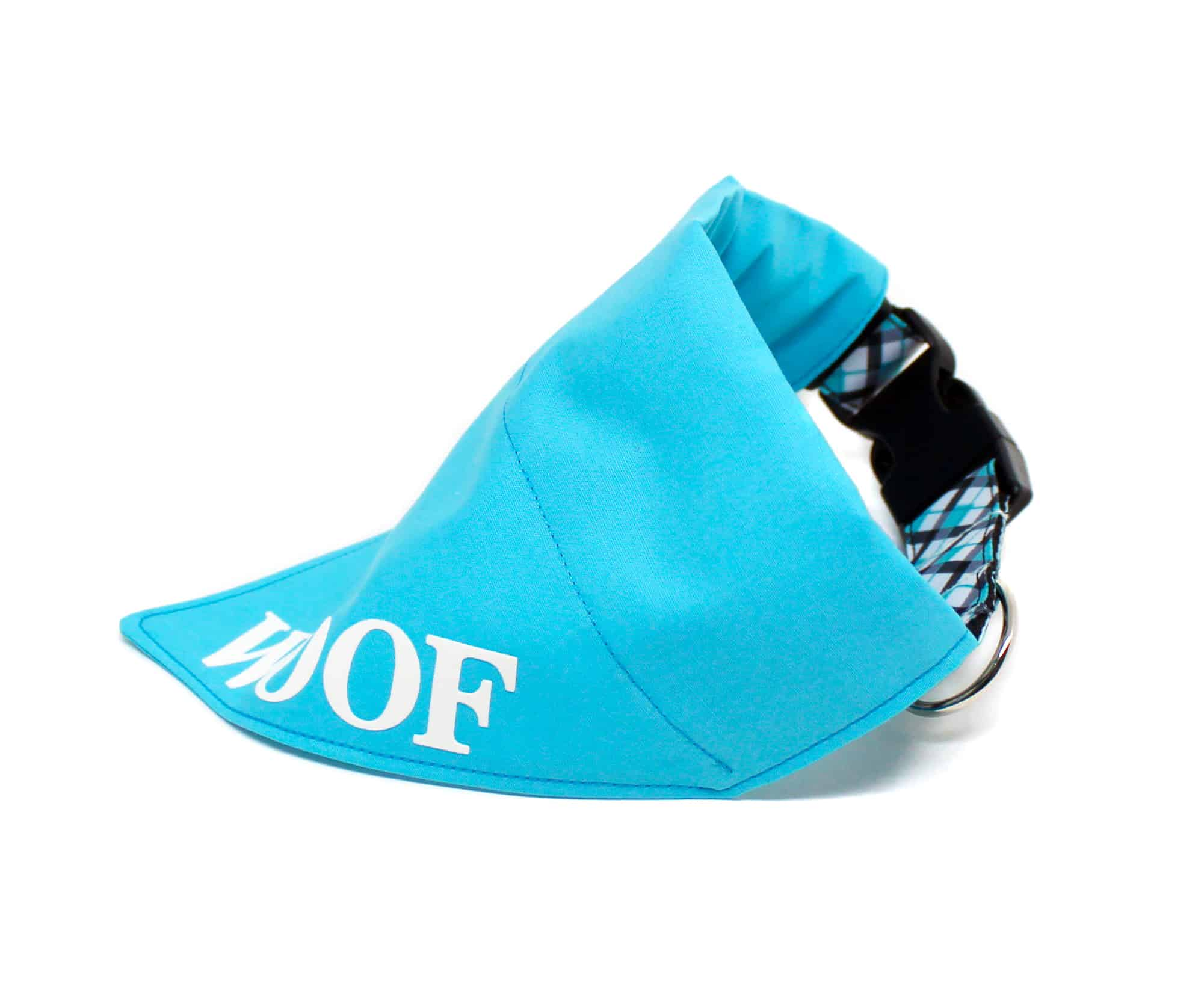 turquoise personalised dog bandana