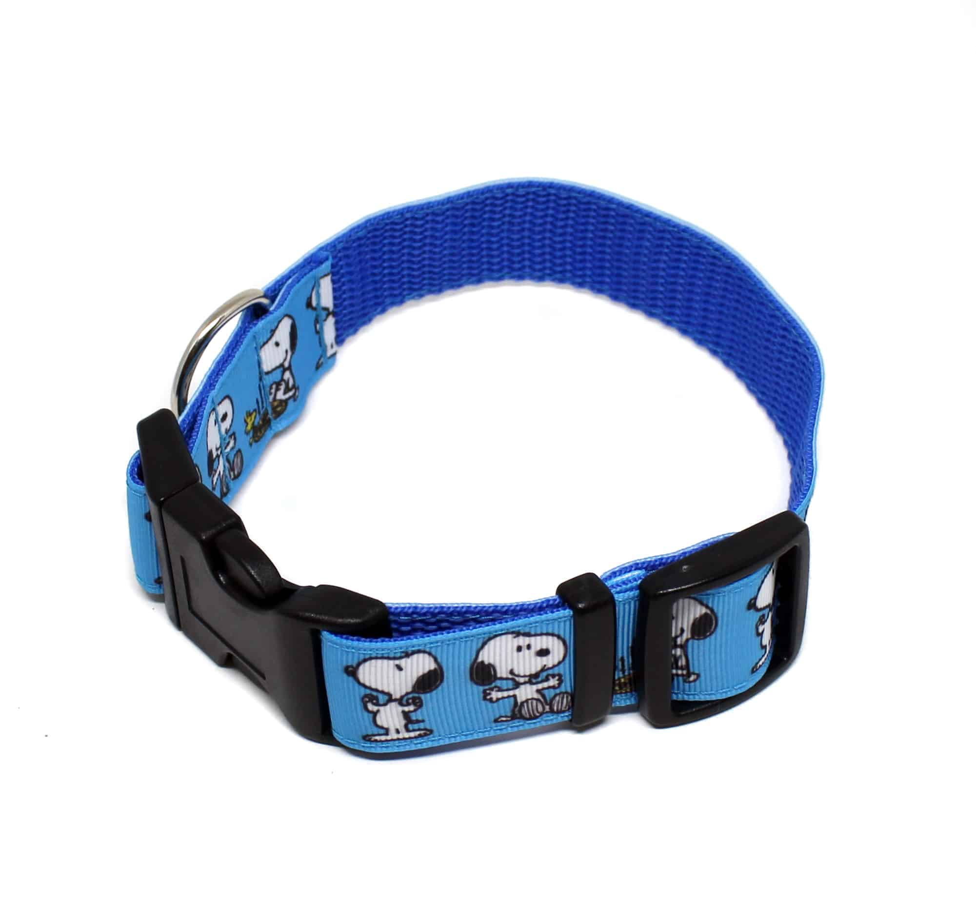 blue snoopy collar and lead set